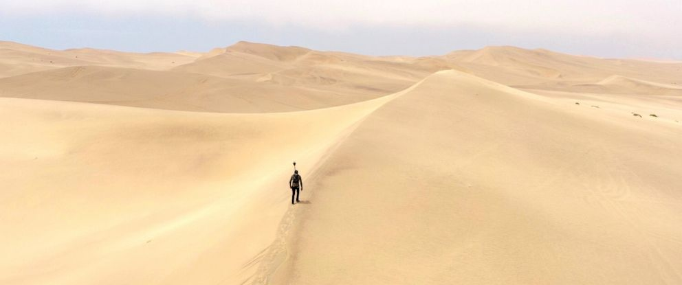 PHOTO: Tawanda Kanhema is pictured here mapping out the Namib Desert for Google Street View.