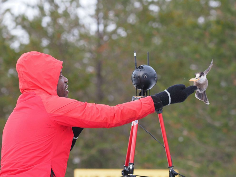 PHOTO: Tawanda Kanhema is pictured here mapping out remote parts of northern Ontario for Google Street View.
