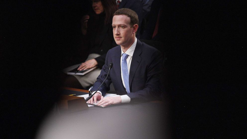 Facebook founder and CEO Mark Zuckerberg testifies during hearing about Facebook on Capitol Hill in Washington, D.C., April 10, 2018.