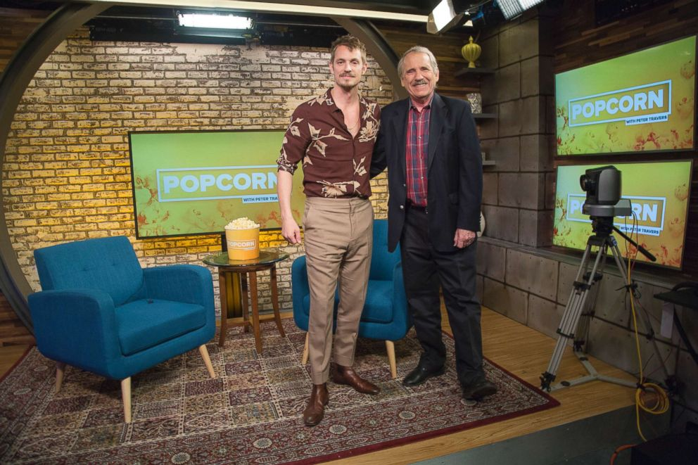 PHOTO: Joel Kinnaman appears on Popcorn with Peter Travers at ABC News Studios in New York City, Jan. 29, 2018.