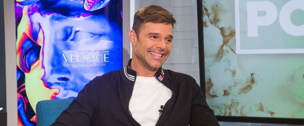 """PHOTO: Ricky Martin appears on """"Popcorn with Peter Travers"""" at ABC News studios, June 7, 2018, in New York City."""