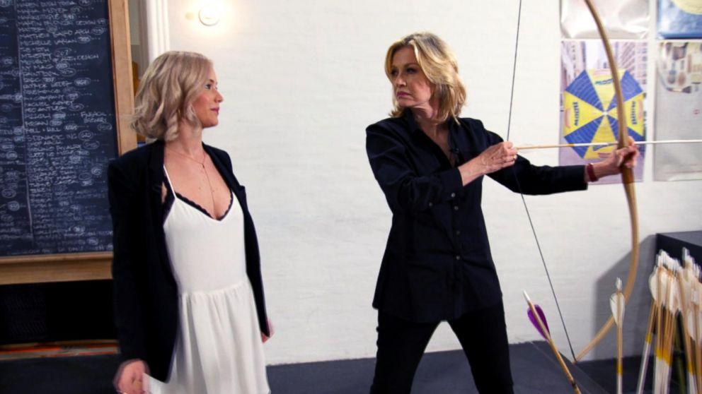 Jennifer Lawrence Gives Diane Sawyer an Archery Lesson