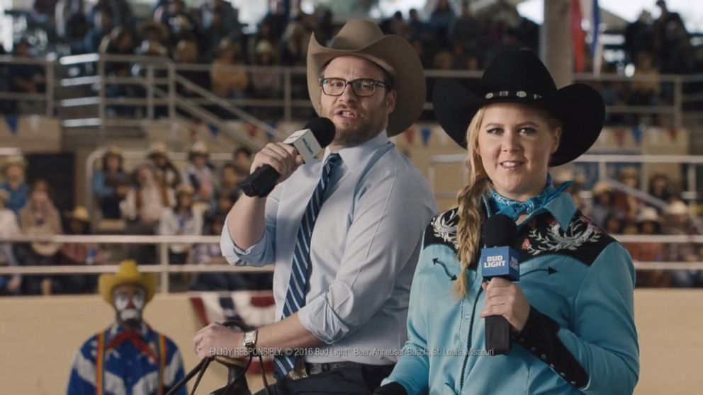 Super bowl ad amy schumer and seth rogen take on bud light video buffering aloadofball Choice Image