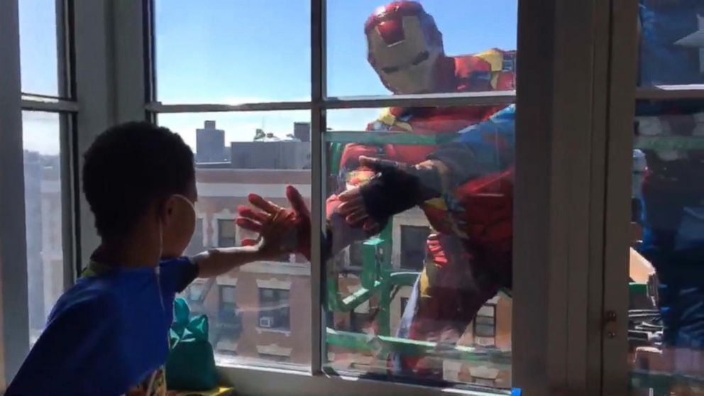 Superheroes Surprise Pediatric Patients at New York-Presbyterian Hospital