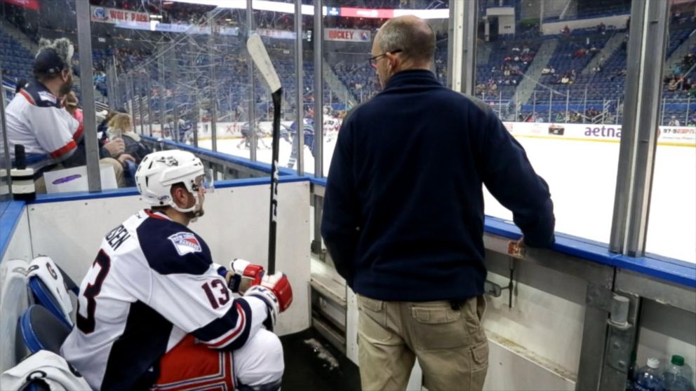 Inside A Hockey Penalty Box Heated Players And A Constant