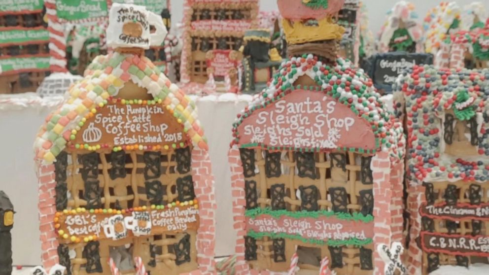 VIDEO: Gingerbread Man Builds Worlds Largest Gingerbread Village