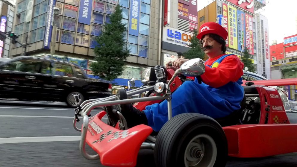 driving a real life mario kart in the streets of tokyo abc news