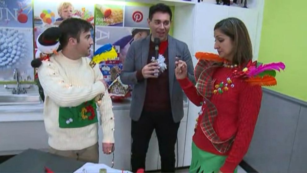 05c8df1f It's National Ugly Christmas Sweater Day! Video - ABC News