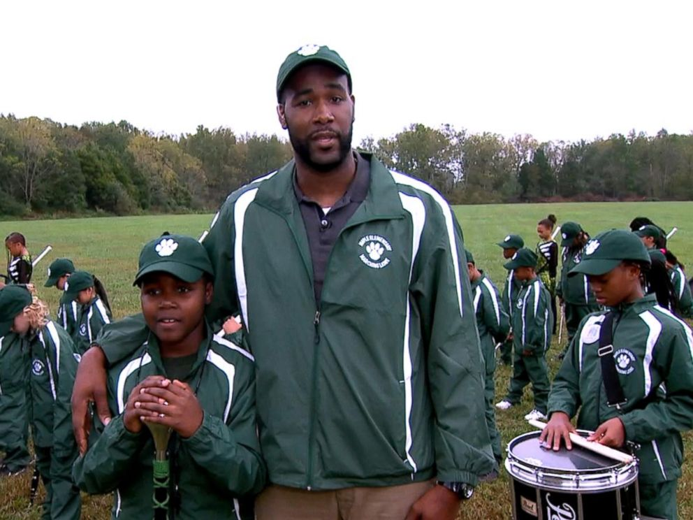 PHOTO: Ray Washington, the teacher of an inspiring elementary school drumline, opens up about his project live on GMA.