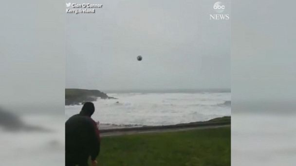 Powerful winds return soccer ball every time