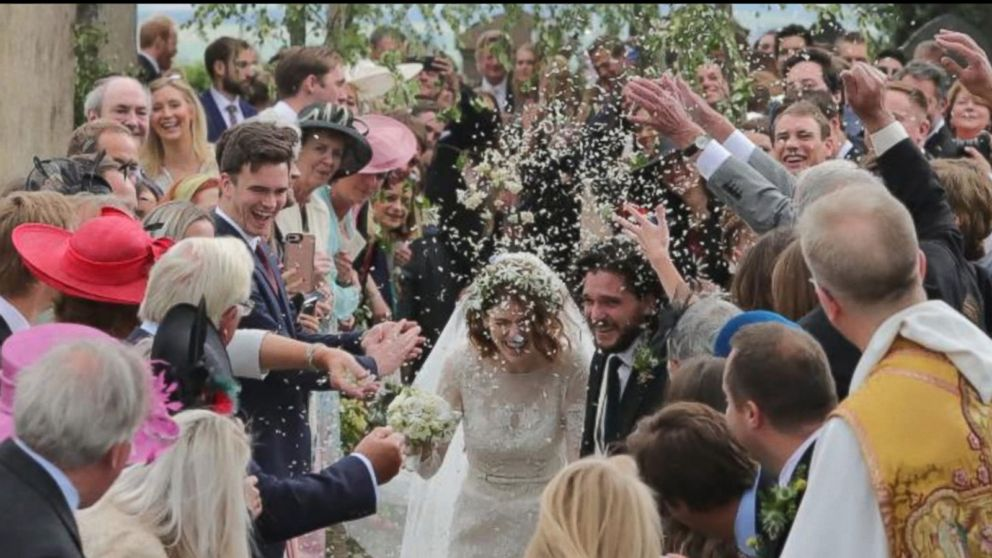a9c691b41da6 Inside 'Game of Thrones' stars Kit Harington and Rose Leslie's wedding