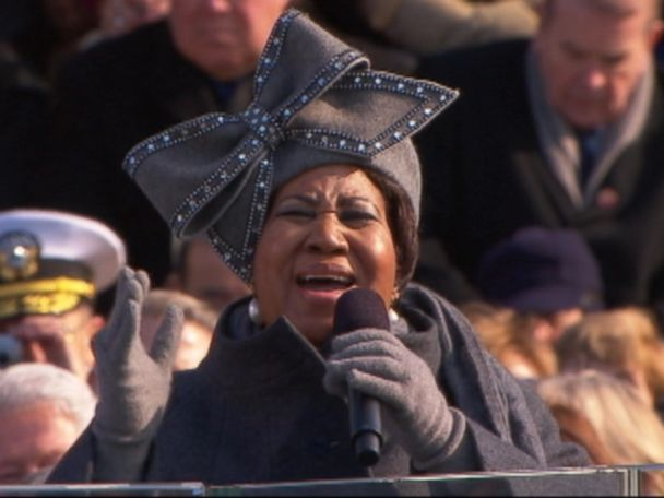 WATCH:  Aretha Franklin sings at Obama's inauguration
