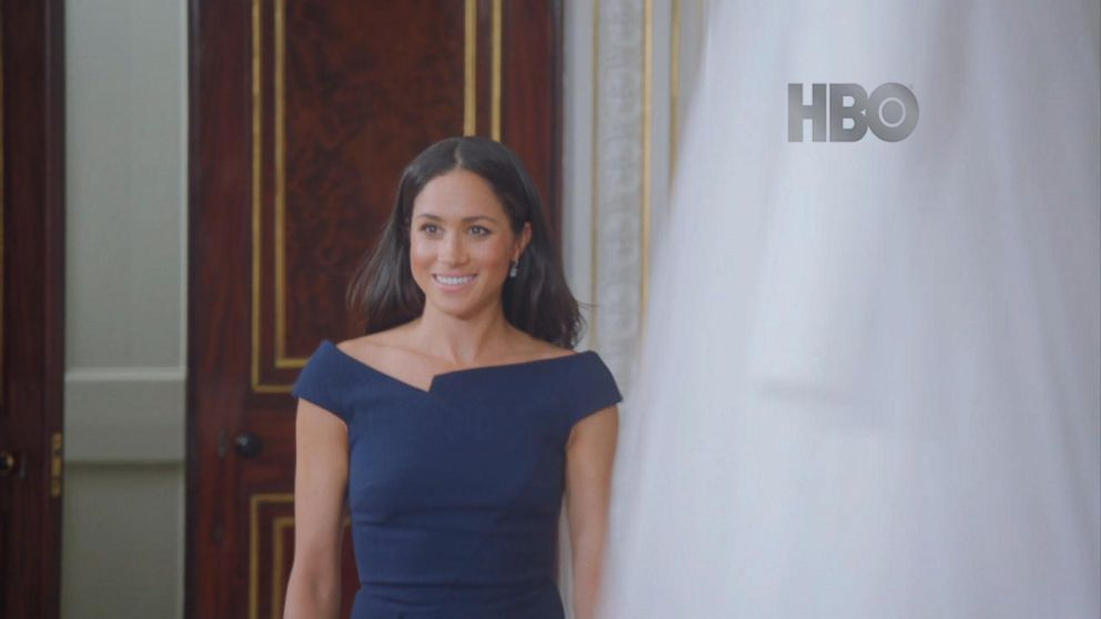 VIDEO: Duchess Meghan Markle sees her wedding dress for the first time since her big day