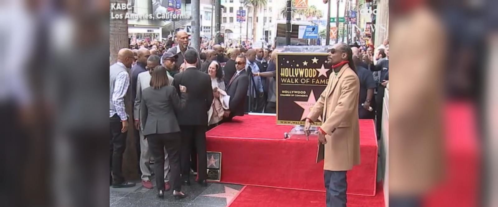 VIDEO: Snoop Dogg gets star on Hollywood Walk of Fame