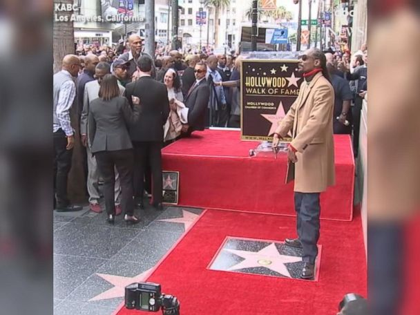 WATCH:  Snoop Dogg gets star on Hollywood Walk of Fame