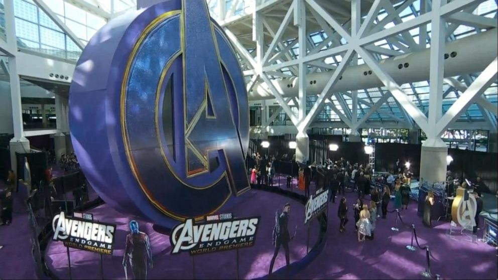 Purple carpet premiere of 'Avengers: Endgame'