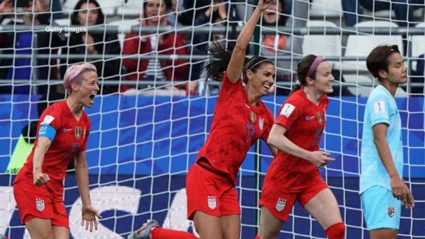 Team USA dominates Thailand in Women's World Cup