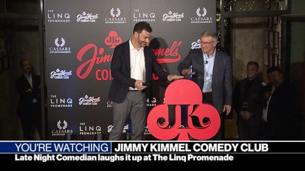 Jimmy Kimmel's comedy club in Las Vegas celebrates its grand opening!