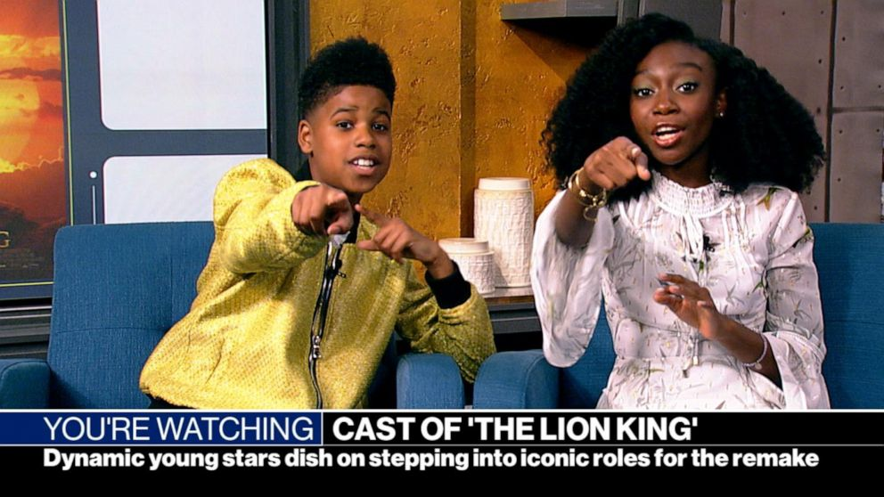 Dynamic young stars of 'The Lion King'