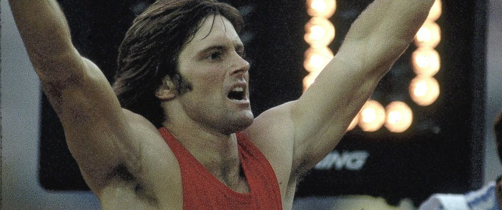 PHOTO: Bruce Jenner celebrates after winning 1500M race during Decathlon at Olympic Stadium in Montreal, Canada, July 17, 1976.
