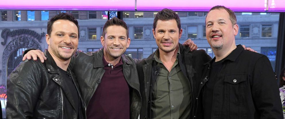 """PHOTO: 98 Degrees performed live on """"Good Morning America,"""" Nov. 22, 2017, on the ABC Television Network."""