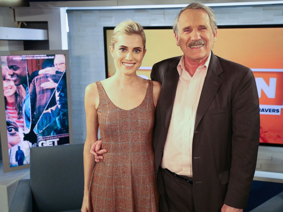 PHOTO: Allison Williams appeared on Popcorn with Peter Travers, Feb. 23, 2016, in New York City.