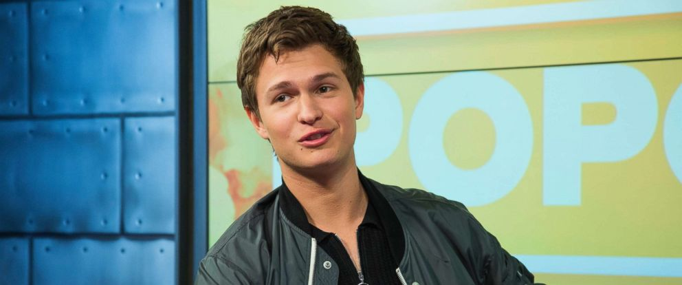 """PHOTO: Ansel Elgort, from """"Baby Drivers,"""" appears on """"Popcorn with Peter Travers,"""" at the ABC News studios in New York City, June 28, 2017."""