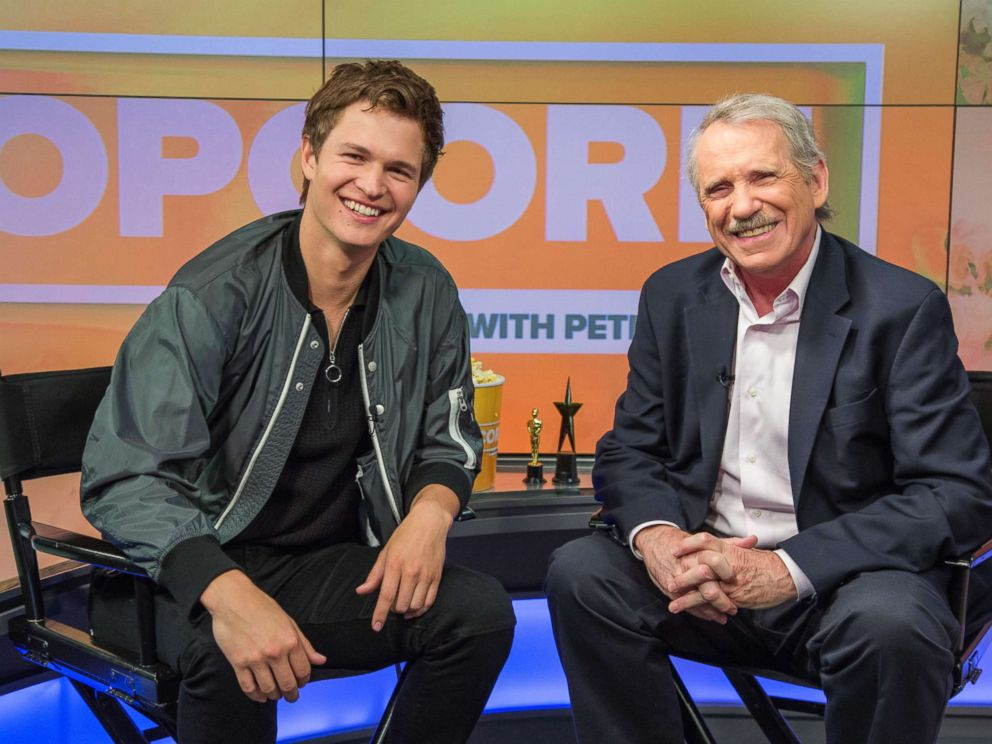 PHOTO: Ansel Elgort, from Baby Drivers, appears on Popcorn with Peter Travers, at the ABC News studios in New York City, June 28, 2017.