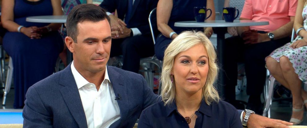 "PHOTO: Golfer Billy Horschel and his wife Brittany Horschel spoke candidly about their familys struggle live on ""Good Morning America,"" June 21, 2017."