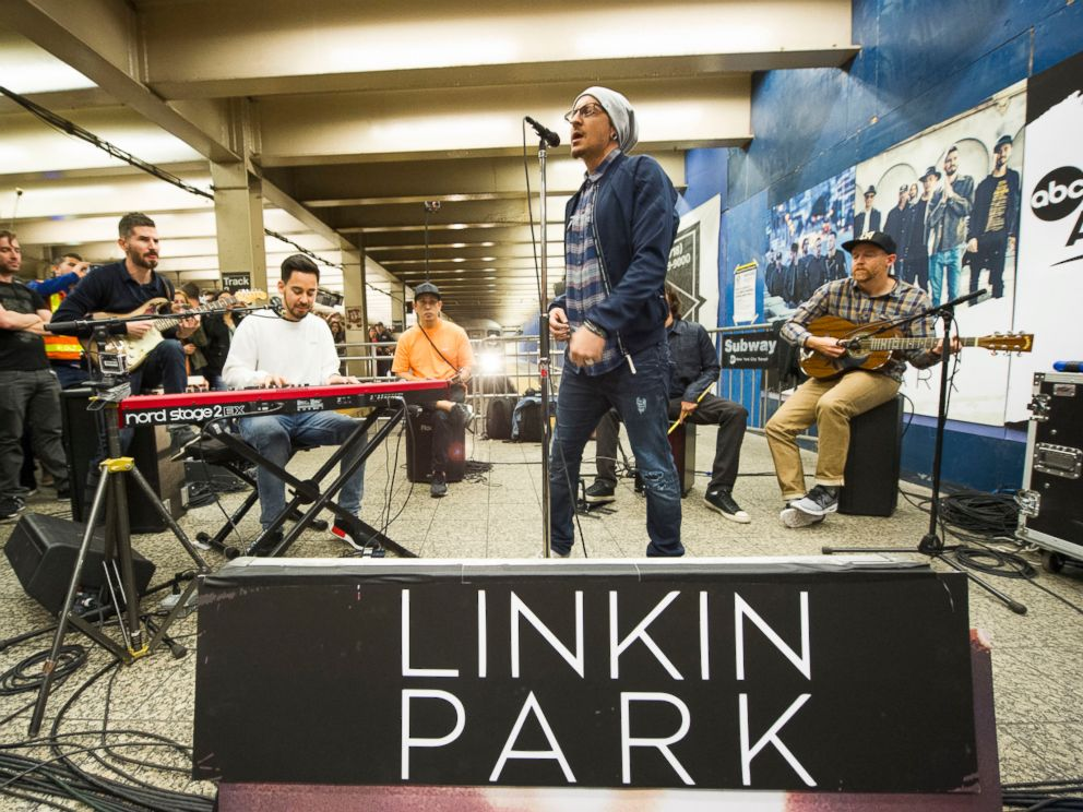 PHOTO: Linkin Park gave a surprise performance at New York Citys Grand Central Terminal as part of Pop-Up Week on GMA.