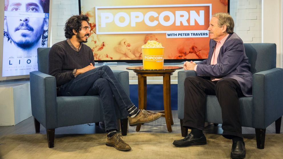 """Dev Patel talked about his movie """"Lion"""" on an episode of ABC News' """"Popcorn With Peter Travers."""""""