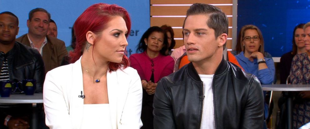 """PHOTO: Sharna Burgess and Bonner Bolton appear on """"Good Morning America,"""" May 9, 2017."""
