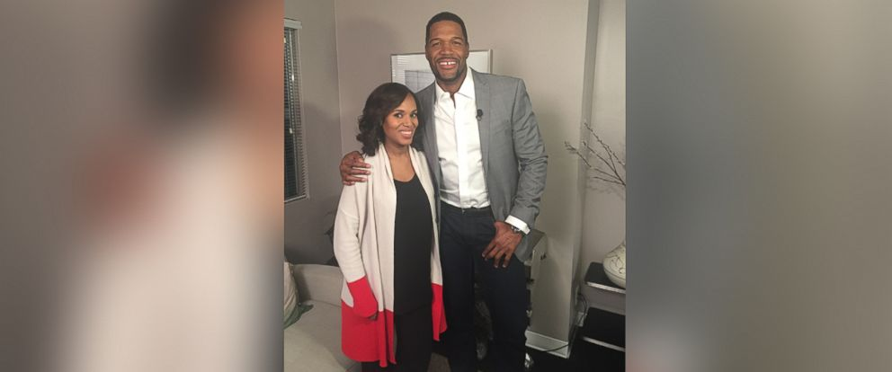 """PHOTO: """"Scandal"""" star Kerry Washington spoke to """"Good Morning America"""" anchor Michael Strahan in an interview that aired on Jan. 25, 2016."""