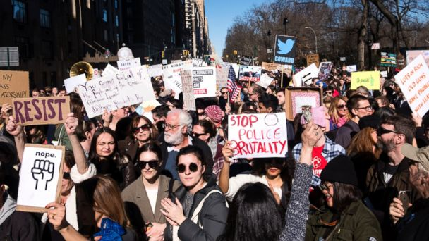 Thousands of demonstrators across US: Not my president
