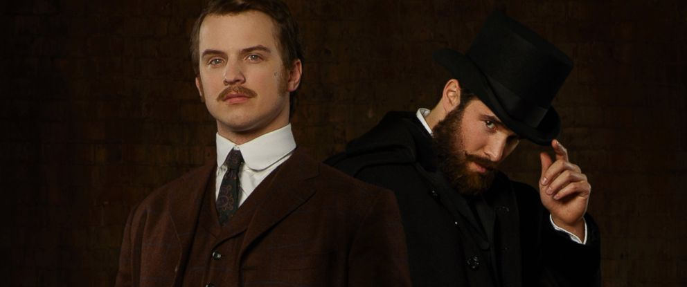 """PHOTO: ABCs """"Time After Time"""" stars Freddie Stroma as H.G. Wells and Josh Bowman as John Stevenson."""