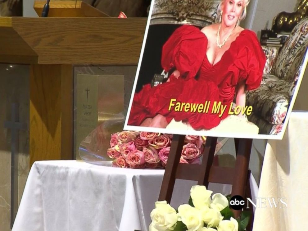 PHOTO: Zsa Zsa Gabors funeral is seen here.