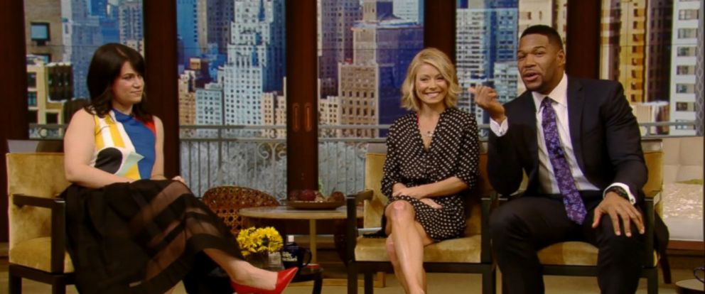 """PHOTO: Abbi Jacobson is seen on """"Live with Kelly and Michael"""" on March 11, 2015."""