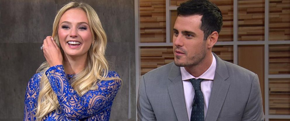 "PHOTO:The Bachelor couple Ben Higgins and Lauren Bushnell discussed their engagement live on ""Good Morning America."""