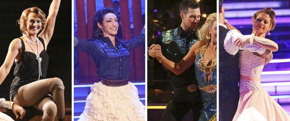 "PHOTO: James Maslow, Meryl Davis, Candace Cameron Bure and Amy Purdy compete on season 18 of ABCs ""Dancing With the Stars."""