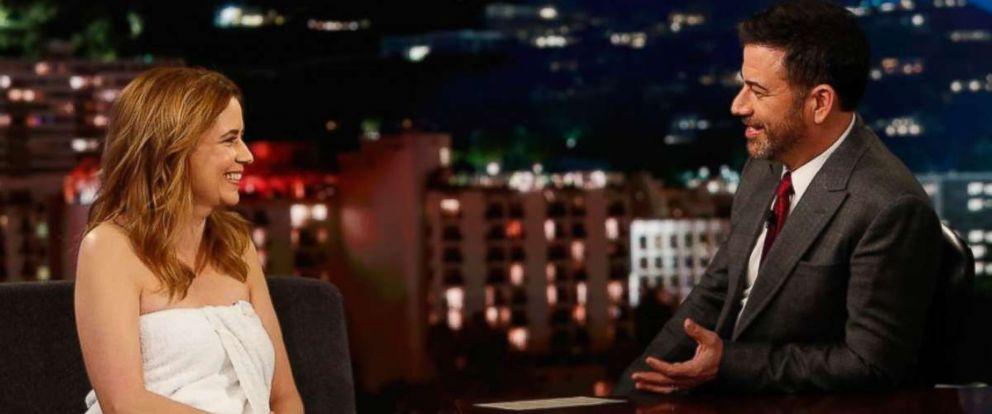 "PHOTO: Actress Jenna Fischer on ""Jimmy Kimmel Live"" Monday evening."
