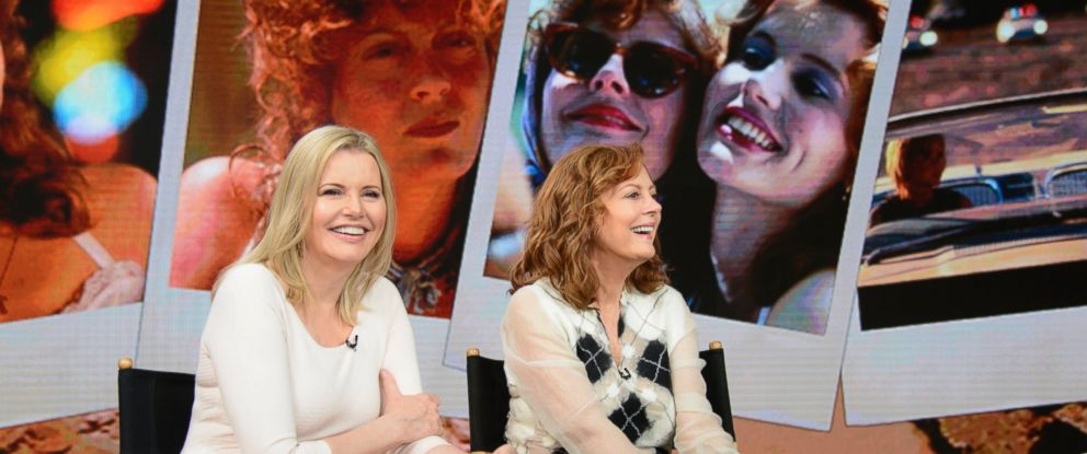 "PHOTO: ""Thelma & Louise"" stars Geena Davis and Susan Sarandon reminisced on the 25-year anniversary of the classic movie on ""Good Morning America."""