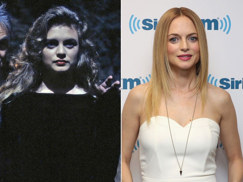 PHOTO: Heather Graham in a scene from 'Twin Peaks', 1991.   Heather Graham in New York City, April 3, 2015.