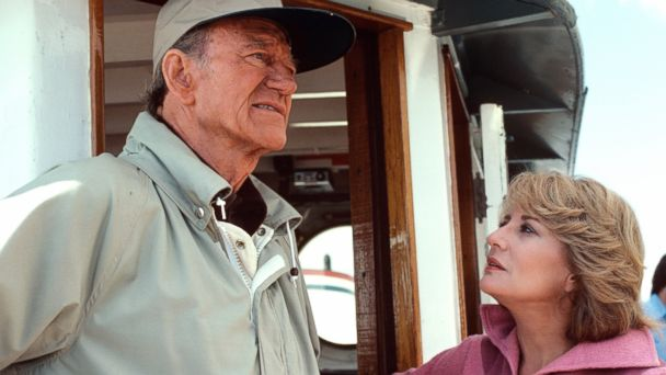 PHOTO: Barbara Walters interviews legendary actor John Wayne for her special airing March 13,1979 the ABC Television Network.