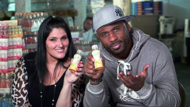 "PHOTO: Tania Patruno and Brandon Jacobs pitched their product, PRO-NRG, on ABCs ""Shark Tank."""