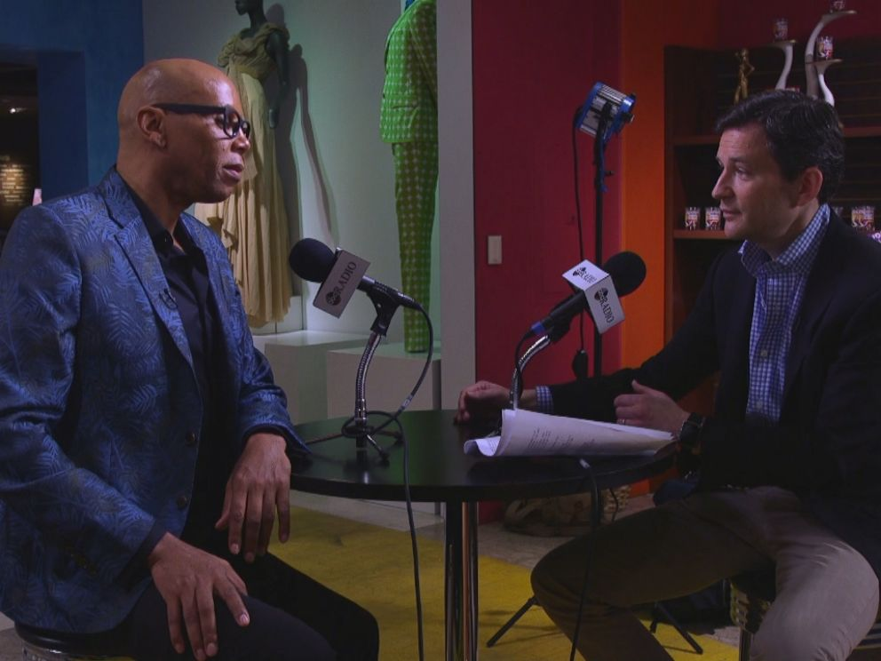 PHOTO: RuPaul speaks to ABC News Dan Harris for his podcast, 10% Happier.