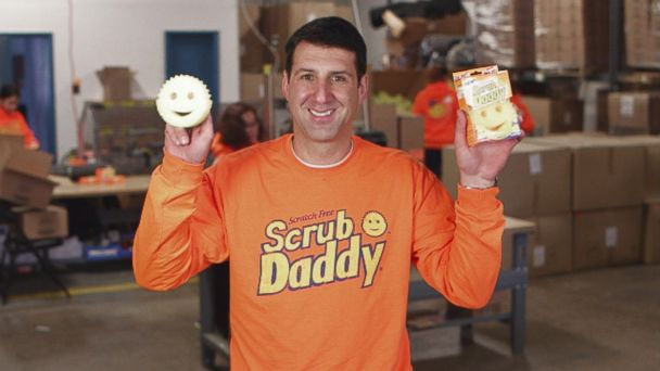 "PHOTO: Aaron Krause pitched his product, Scrub Daddy, on ABC ""Shark Tank."""