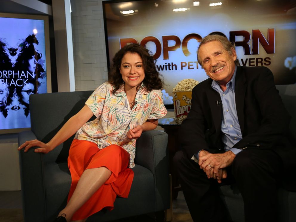 PHOTO: Orphan Black star Tatiana Maslany talks about her role on the show with Peter Travers on ABC News Popcorn With Peter Travers.