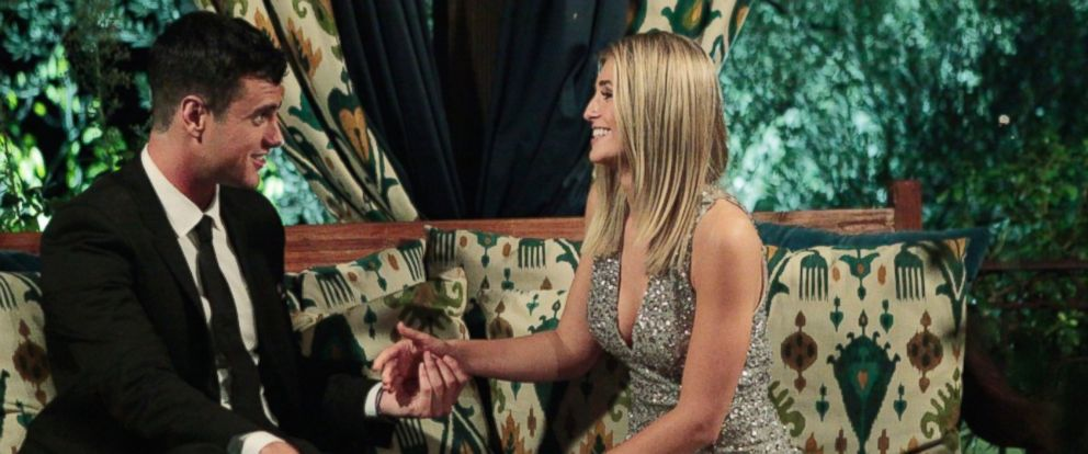 """PHOTO: Ben Higgins meets Olivia on the premiere of the """"The Bachelor,"""" Jan .4, 2016."""