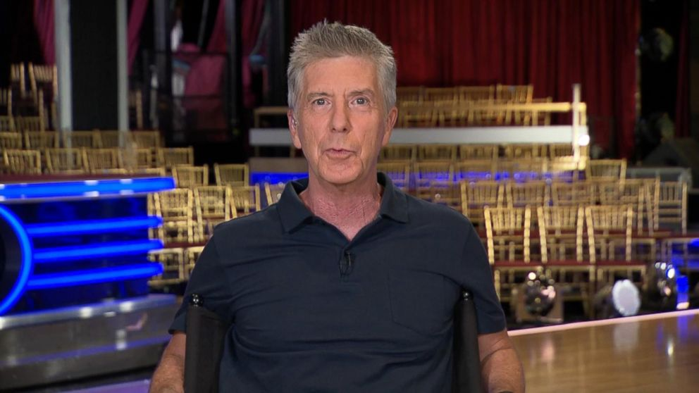 "Dancing With the Stars host Tom Bergeron appeared on ""GMA,"" Sept 13, 2016 following last night's Ryan Lochte protesters incident."