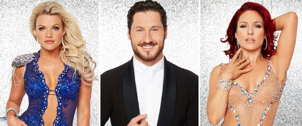 """PHOTO: Fan favorites Witney Carson, Val Chmerkovskiy and Sharna Burgess are among the pro dancers participating in season 23 of ABCs """"Dancing With the Stars."""""""